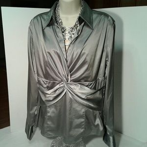 Gorgeous Silver stretch blouse